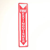 Fire Extinguisher Sign - Vertical - Plastic