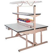 "Pro-Line 60""W x 30""D FL6030PLD Flex-Line Dual Sided Workbench - Plastic Laminate Top"