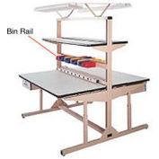 """48""""L Bin Rail for Flexline Workstation"""