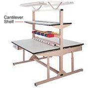 "60""W X 12""D PLastic Laminate Cantilever Shelf"