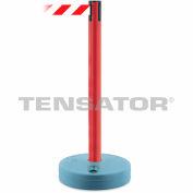 Tensabarrier Red Outdoor Post 7.5'L Red/White Chevron Retractable Belt Barrier