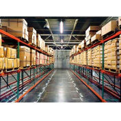 "Husky Rack & Wire 183614443096DS Tear Drop Pallet Rack With Wire Deck - 96""W x 36""D x 144""H"