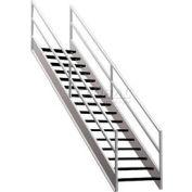 "Staircase 2 Rail 36""W Closed Tread Open Riser"