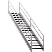 "Staircase Wire Mesh 36""W Closed Tread And Riser"