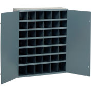 Durham Steel Storage Parts Bin Cabinet 360-95 With Doors - 42 Compartments