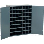 Durham Steel Storage Parts Bin Cabinet 361-95 With Doors - 56 Compartments