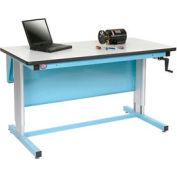60 X 30 Plastic Top Ergo-Line Workbench- Blue