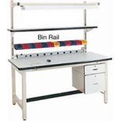 "60""L Bin Rail for Workstation - Beige"