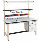 """60"""" L Power Supply with Mounting Rail - Beige"""