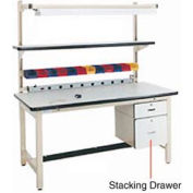 """12""""H Lockable Stacking Drawer - Beige for Pro-Line Workbench"""