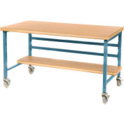 "Mobile 72"" X 30"" Shop Top Workbench - Blue"