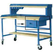 "15""W X 20""D X 6""H Bench Drawer - Blue"