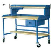 """Back And End Stops For 60"""" Riser - Blue"""