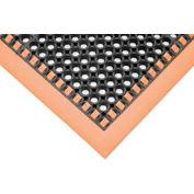"""SafetyTruTred™ Hi-Vis Drainage Mat, 4-Sided Border, 7/8"""" Thick, 40""""x64"""", Black/Orange"""