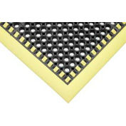 "SafetyTruTred™ Hi-Vis Drainage Mat , 4-Sided Border, 7/8"" Thick, 40""x124"", Black/Yellow"
