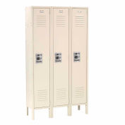 Infinity™ Locker Single Tier 15x18x72 3 Door Ready To Assemble Tan
