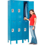 Infinity™ Locker Double Tier 12x12x36 6 Door Ready To Assemble Blue