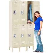 Infinity™ Locker Double Tier 12x15x36 6 Door Ready To Assemble Tan