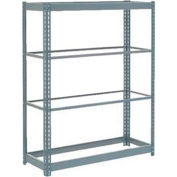 """Heavy Duty Shelving 48""""W x 12""""D x 60""""H With 4 Shelves - No Deck - Gray"""