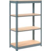 "Heavy Duty Shelving 48""W x 24""D x 60""H With 4 Shelves, Wood Deck"