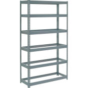 """Extra Heavy Duty Shelving 48""""W x 24""""D x 60""""H With 6 Shelves - No Deck - Gray"""
