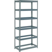 """Extra Heavy Duty Shelving 36""""W x 12""""D x 84""""H With 6 Shelves - No Deck - Gray"""