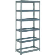 "Global Industrial™ Extra Heavy Duty Shelving 36""W x 18""D x 84""H With 6 Shelves, No Deck, Gray"