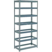 "Extra Heavy Duty Shelving 36""W x 12""D x 84""H With 7 Shelves - No Deck - Gray"