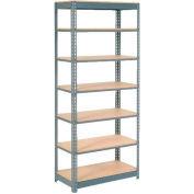 "Heavy Duty Shelving 48""W x 18""D x 84""H With 7 Shelves, Wood Deck"