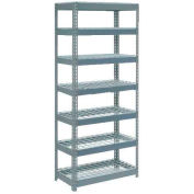 """Extra Heavy Duty Shelving 36""""W x 12""""D x 84""""H With 7 Shelves - Wire Deck - Gray"""