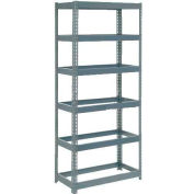 """Global Industrial™ Extra Heavy Duty Shelving 36""""W x 24""""D x 96""""H With 6 Shelves, No Deck, Gray"""