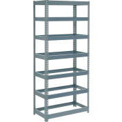 "Global Industrial™ Extra Heavy Duty Shelving 36""W x 12""D x 96""H With 7 Shelves, No Deck, Gray"