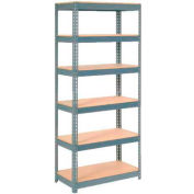 """Extra Heavy Duty Shelving 36""""W x 24""""D x 96""""H With 6 Shelves, Wood Deck"""
