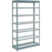 "Global Industrial™ Heavy Duty Shelving 48""W x 18""D x 96""H With 7 Shelves - Wire Deck - Gray"