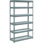 """Extra Heavy Duty Shelving 48""""W x 12""""D x 96""""H With 6 Shelves - Wire Deck - Gray"""