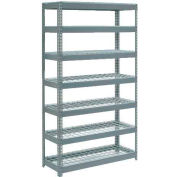 "Extra Heavy Duty Shelving 48""W x 12""D x 96""H With 7 Shelves - Wire Deck - Gray"