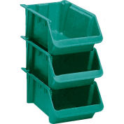 "LEWISBins Fiberglass Hopper Bin SH2411-8 Stack And Nest 24""L x 11-1/2""W x 8""H Green - Pkg Qty 5"