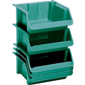 "LEWISBins Fiberglass Hopper Bin SH2416-8 Stack And Nest 24""L x 16-1/2""W x 8""H Green - Pkg Qty 5"