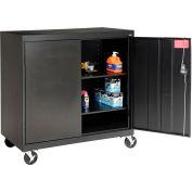 Sandusky Mobile Work Height Storage Cabinet TA2R462442 Double Door - 46x24x48, Black