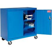 Sandusky Mobile Work Height Storage Cabinet TA2R462442 Double Door - 46x24x48, Blue