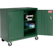 Sandusky Mobile Work Height Storage Cabinet TA2R462442 Double Door - 46x24x48, Green