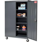 Sandusky Mobile Storage Cabinet TA4R462472 - 46x24x78, Charcoal