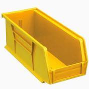 Quantum Plastic Stacking Bin QUS224 4-1/8 x 10-7/8 x 4 Yellow - Pkg Qty 12