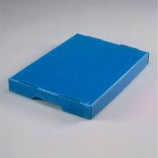 Corrugated Plastic Postal Mail Tote Lid Blue - Pkg Qty 10