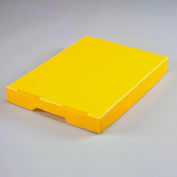 Corrugated Plastic Postal Mail Tote Lid Yellow - Pkg Qty 10