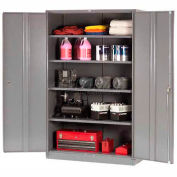 Paramount™ Storage Cabinet Easy Assembly 48x24x78 Gray