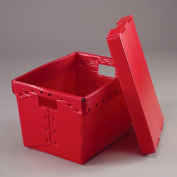 Corrugated Plastic Postal Mail Tote With Lid 18-1/2x13-1/4x12 Red - Pkg Qty 10