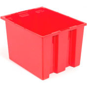 Stacking & Nesting Totes - Shipping SNT195 No Lid 19-1/2 x 15-1/2 x 13, Red - Pkg Qty 6