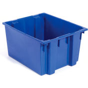 Stack And Nest Shipping Container SNT230 No Lid 23-1/2x19-1/2x13, Blue - Pkg Qty 3