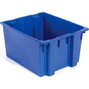 Stack And Nest Shipping Container SNT300 No Lid 29-1/2x19-1/2x15, Blue - Pkg Qty 3